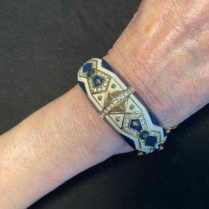 Joan Boyce Enamel Bangle Bracelet